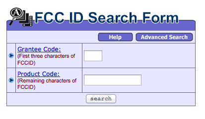 FCC ID Search