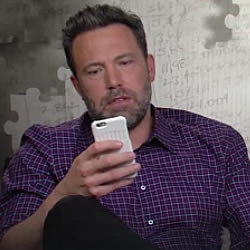 Ben Affleck with a Pong Case
